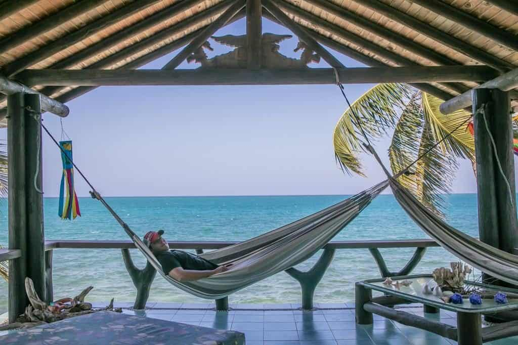 Sal Si Puedes Tintipan, upscale hotel with private cabins and hammock in front the ocean