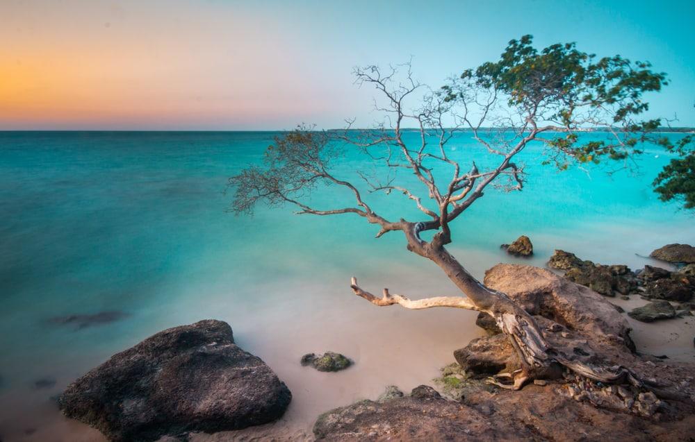 Couché du soleil sur Playa Blanca -  Isla Baru