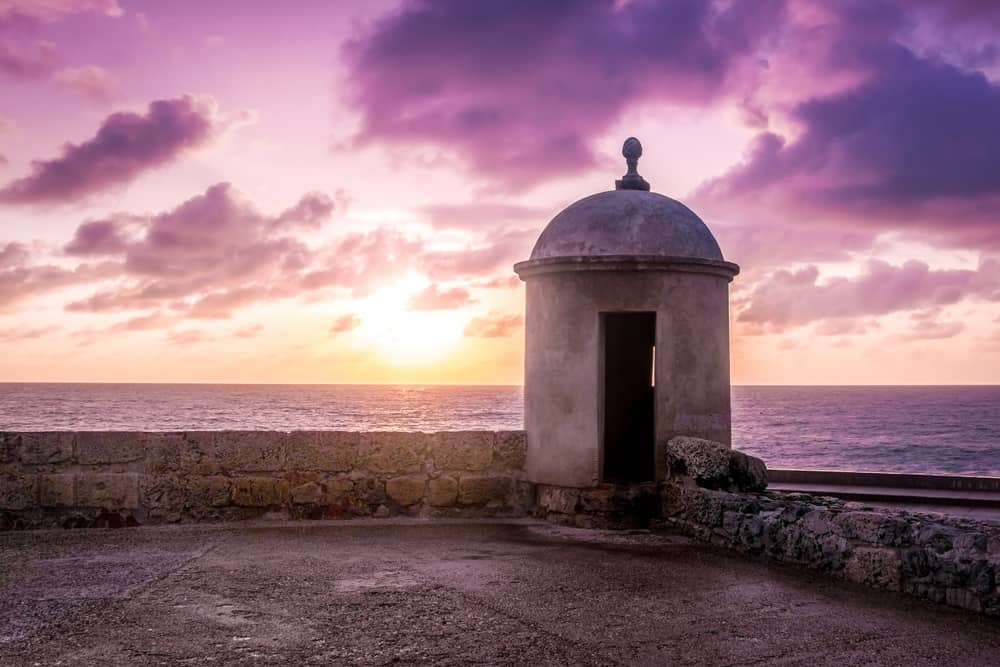 Sunset from the city wall cartagena