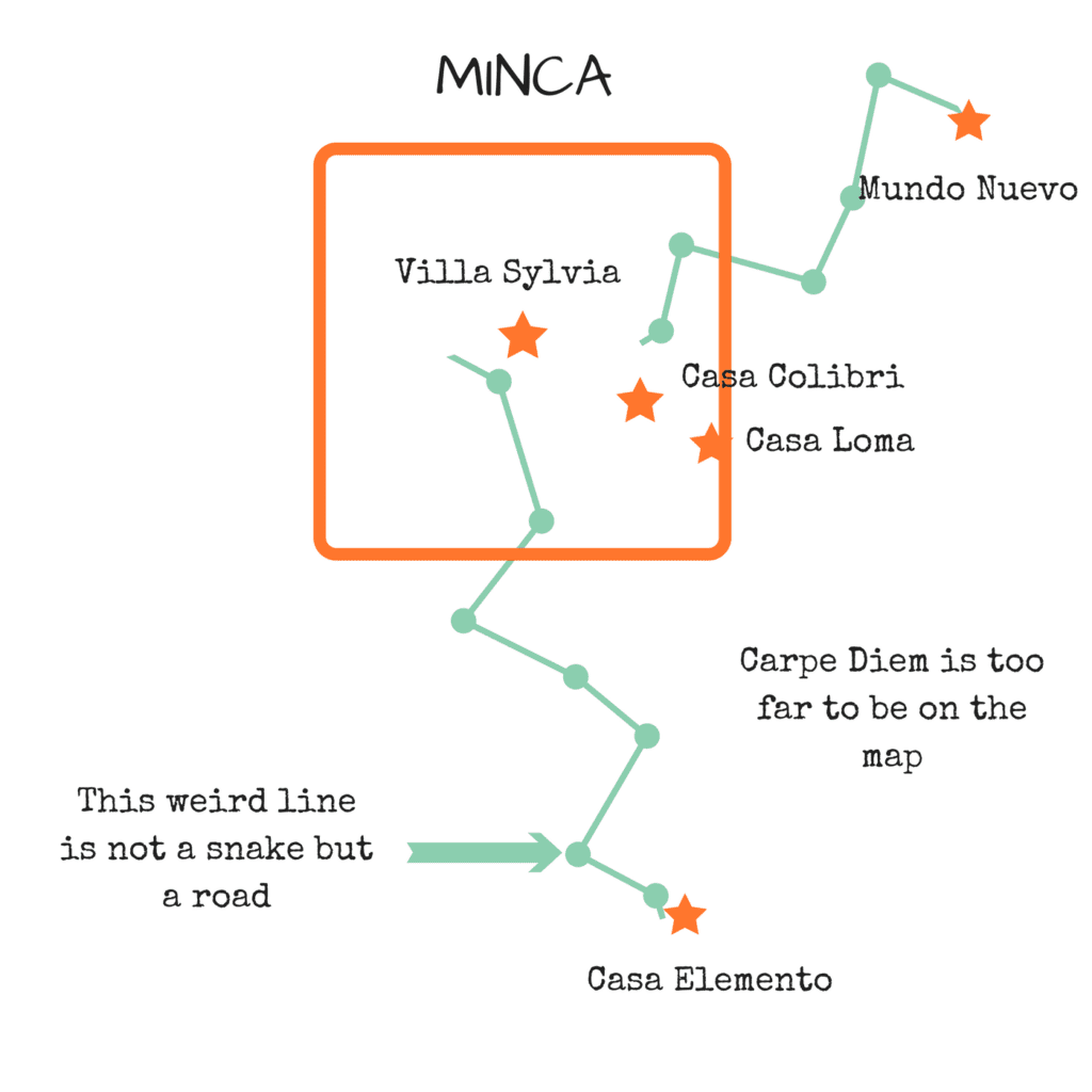 Map MINCA - Colombia