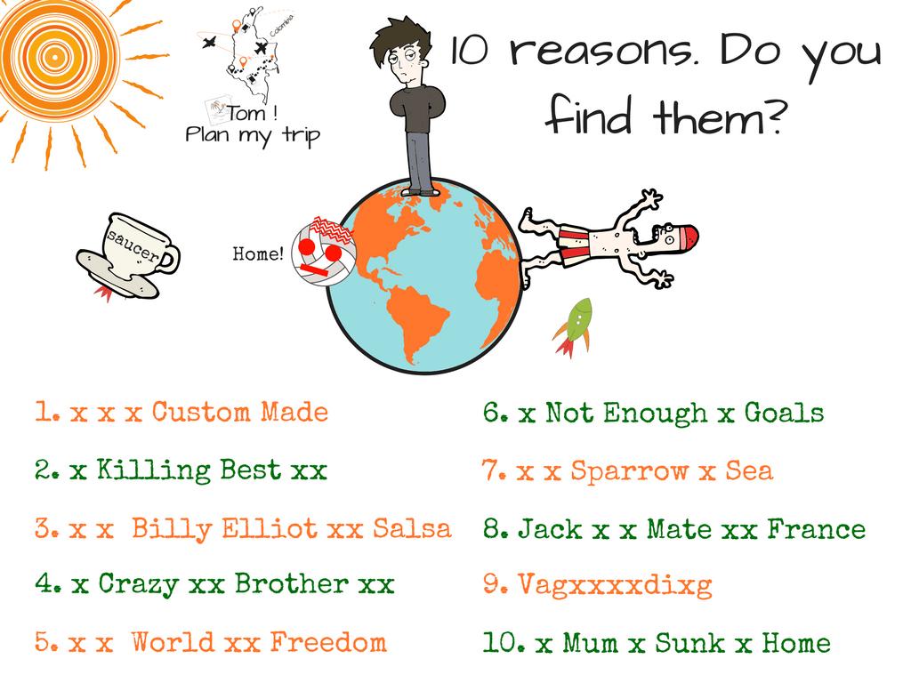 No plan travel - 10 reasons