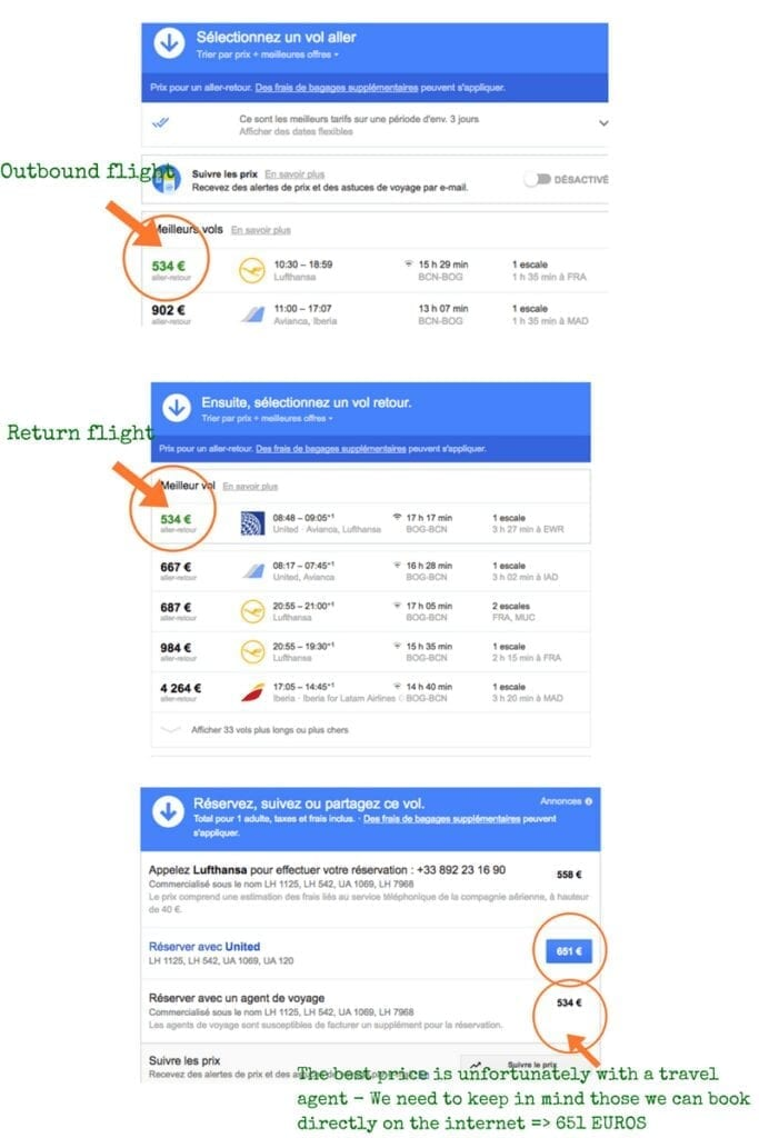 Flights on Google flights Cheap flight To Colombia