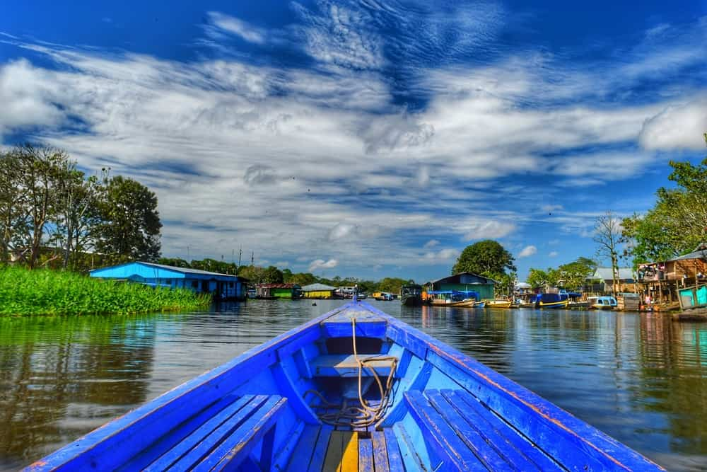 River boat on the Amazon -Leticia in Colombia
