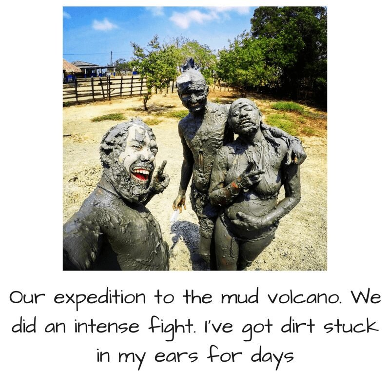 Mud volcano trip to Colombia