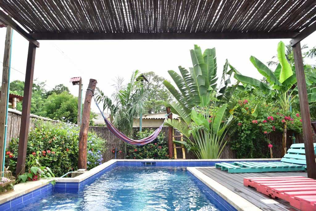 The tribe hostel in Palomino in Colombia