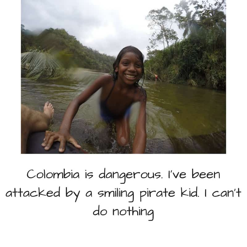 tubing kid in Palomino Colombia