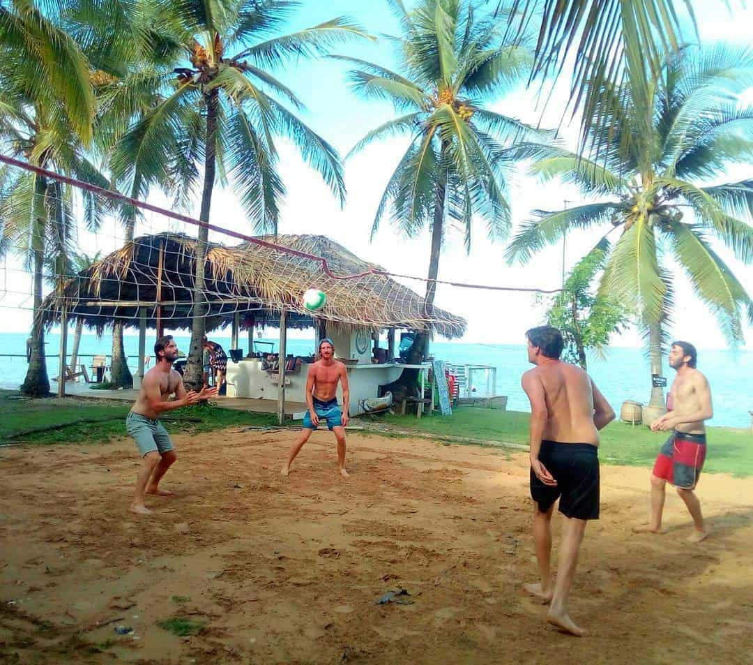 Volleyball game on Isla Fuerte