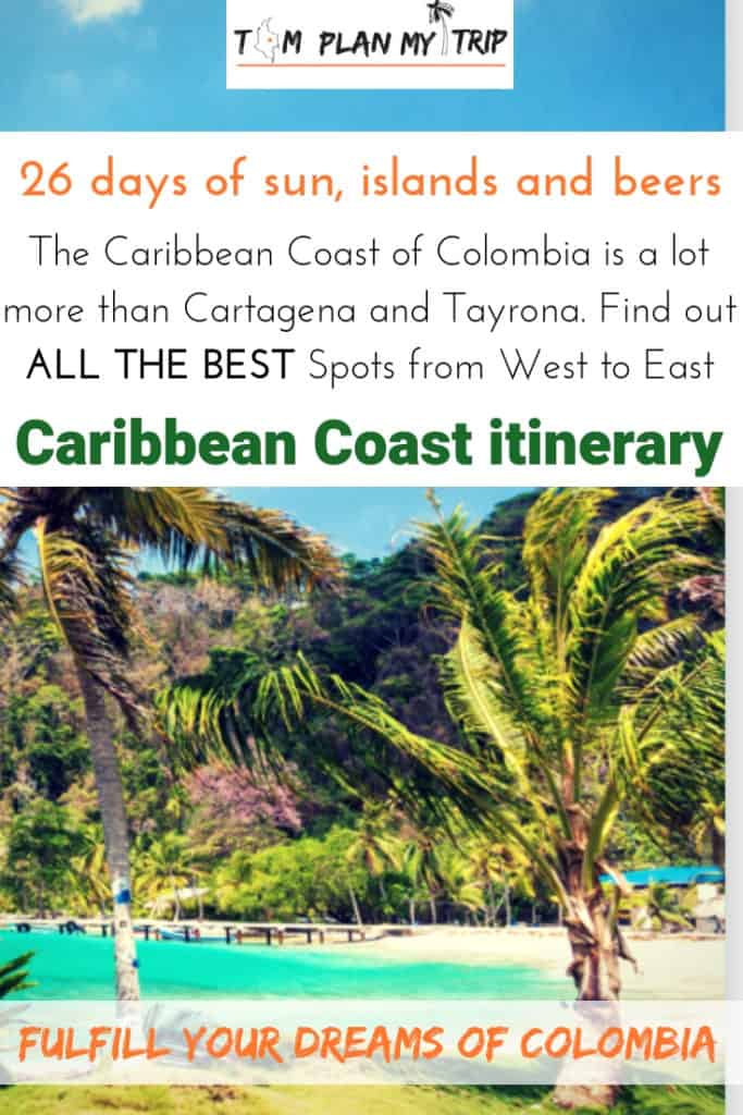 Itinerary on The Caribbean Coast of Colombia