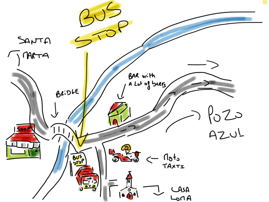 Minca Santa Marta Map