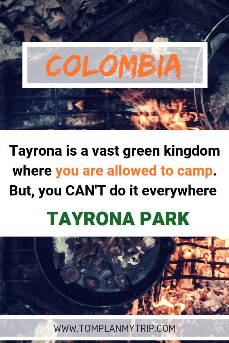Camping in Tayrona Park