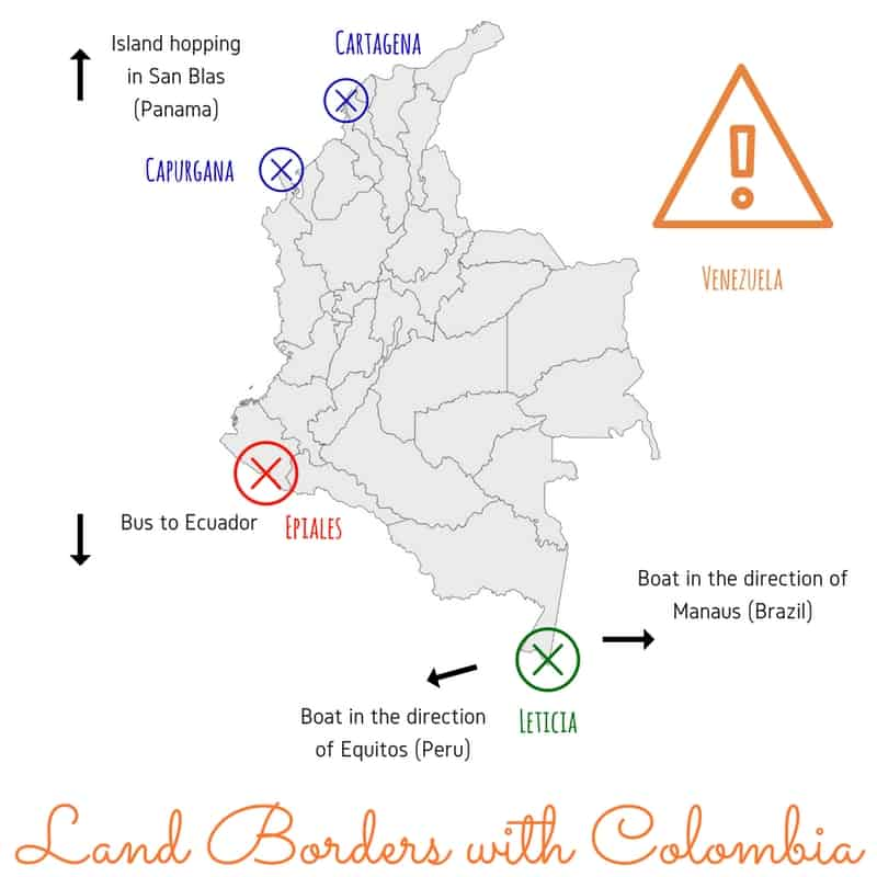 Border Lands interesting facts about Colombia