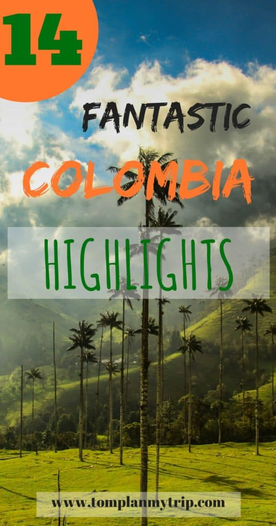 Colombia tourist Attractions Pin