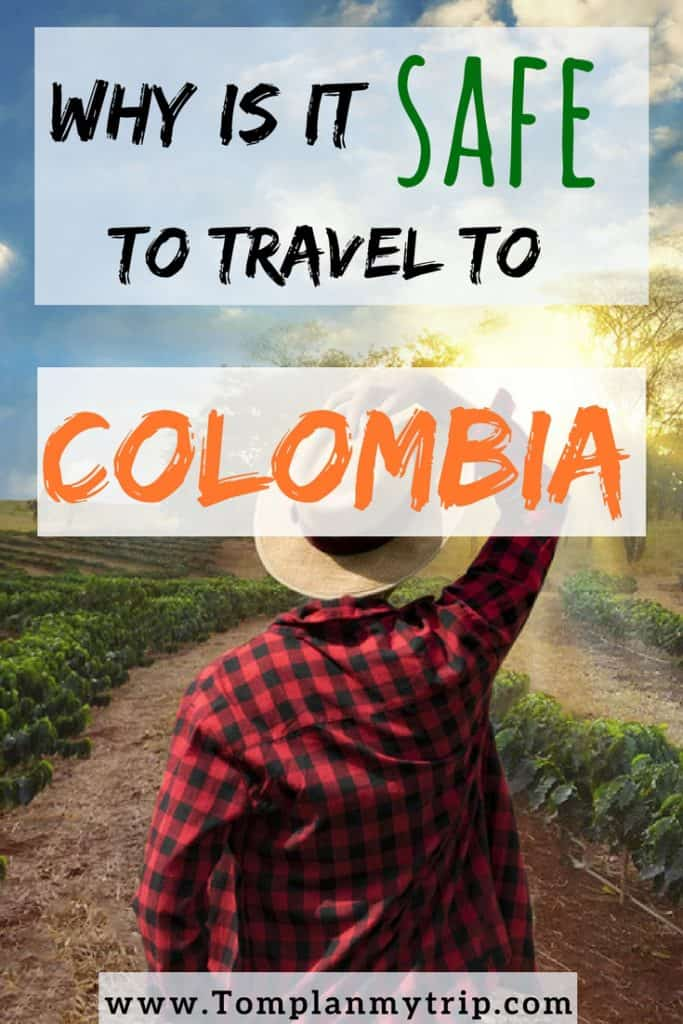 Is it Safe to travel to Colombia Pin