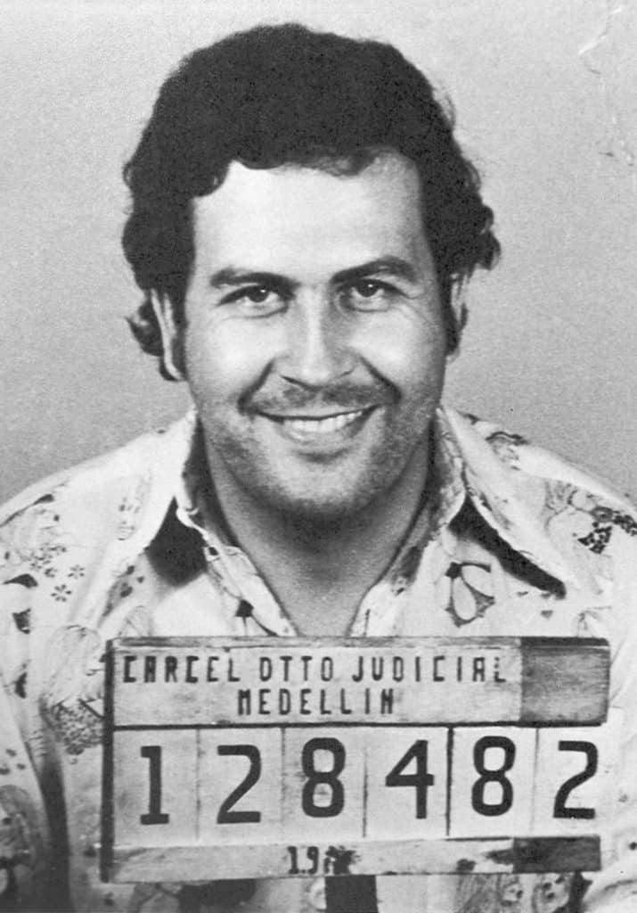 A famous picture of Pablo Escobar when he has been arrested for the first  time 67c92312ee