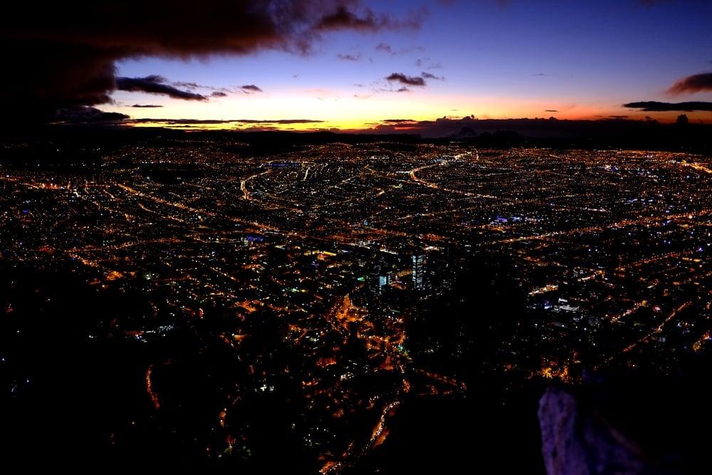 Sunset over Bogota