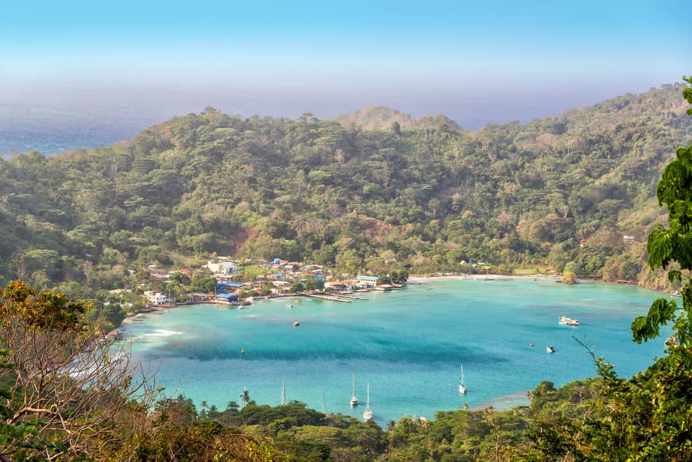 View on Sapzurro, a village near the border with Panama