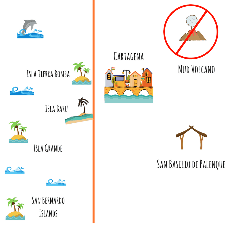Map of Cartagena and Around