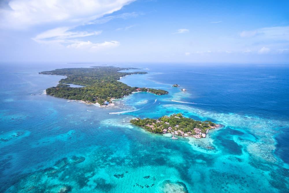 Aerial view Isla Rosario
