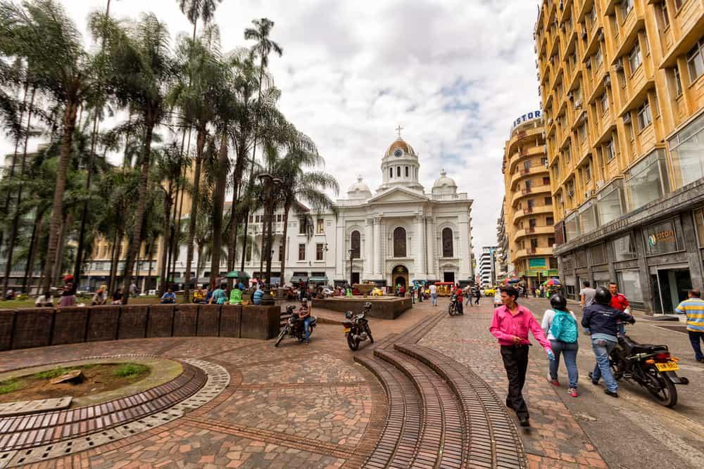Place principale de Cali, Grande Ville de Colombie
