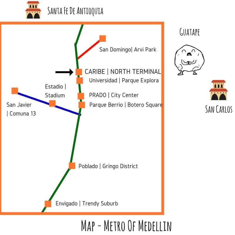 Map Metro Of Medellin