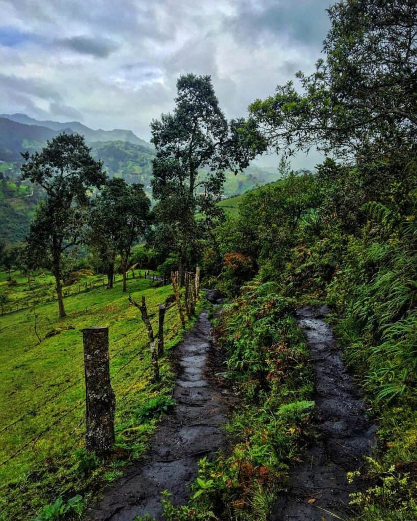 The path to La chorerra day trips from Medellin