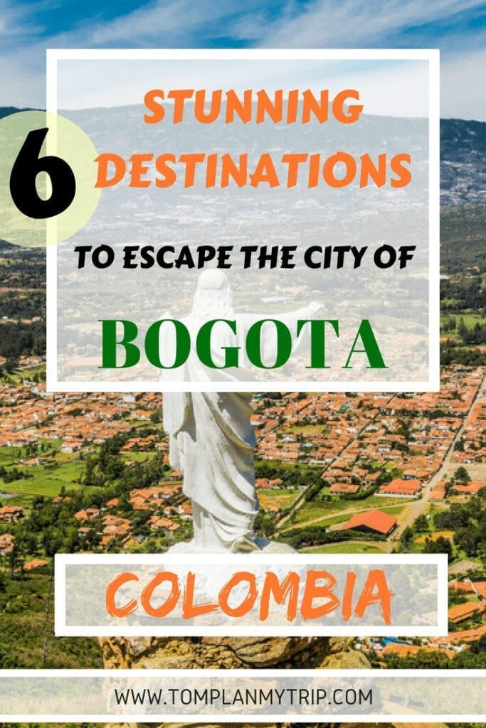 PIN Places Day trips from Bogota