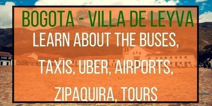 How to get from Bogota to Villa de Leyva (2020)?