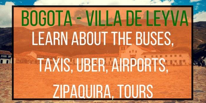 How to get from Bogota to Villa de Leyva (2020)?