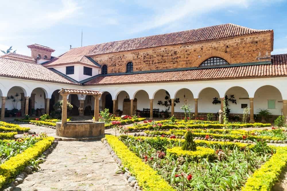 Courtyard of a convent Santo Ecce Homo Villa de Leyva