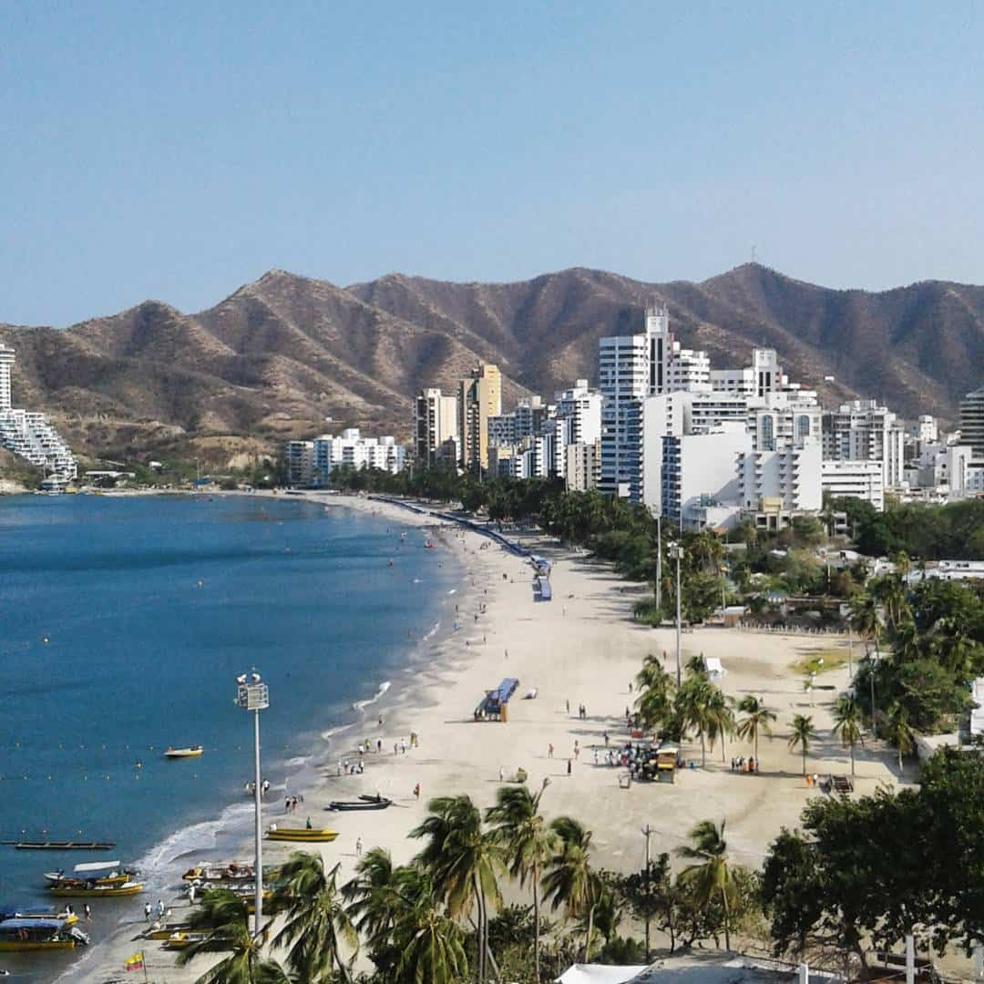 Rodadero beaches in Santa Marta