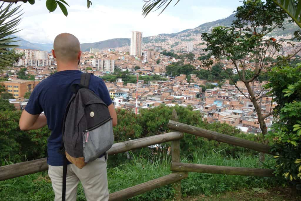 View of Medellin from Morro de Moravia-min