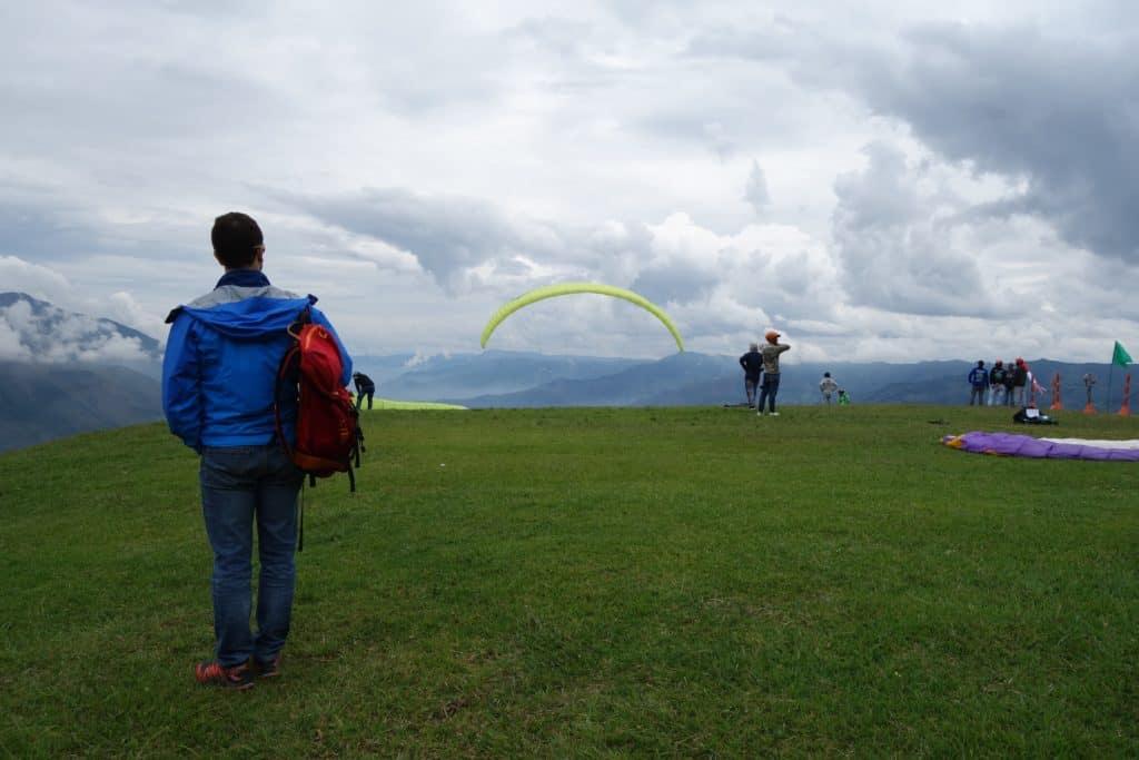 Departure Runway Paragliding san Felix