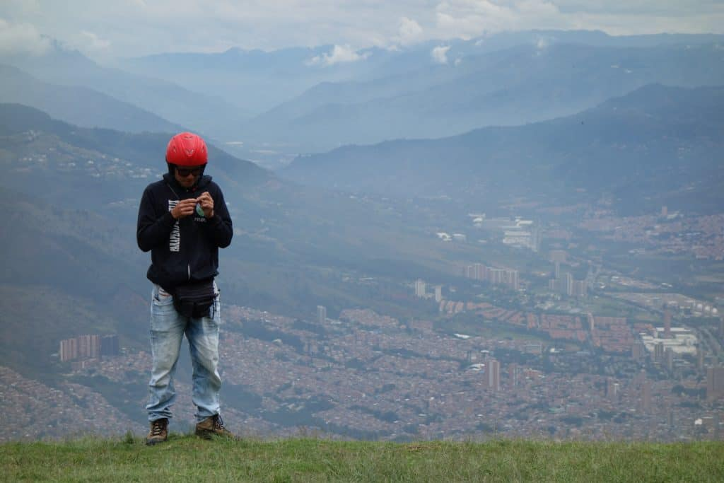 View from Medellin - Paragliding in San Felix
