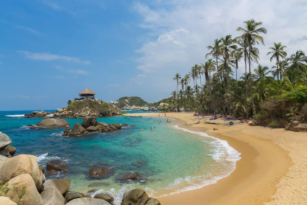 The Beach Cabo San Juan in the National Park of Tayrona