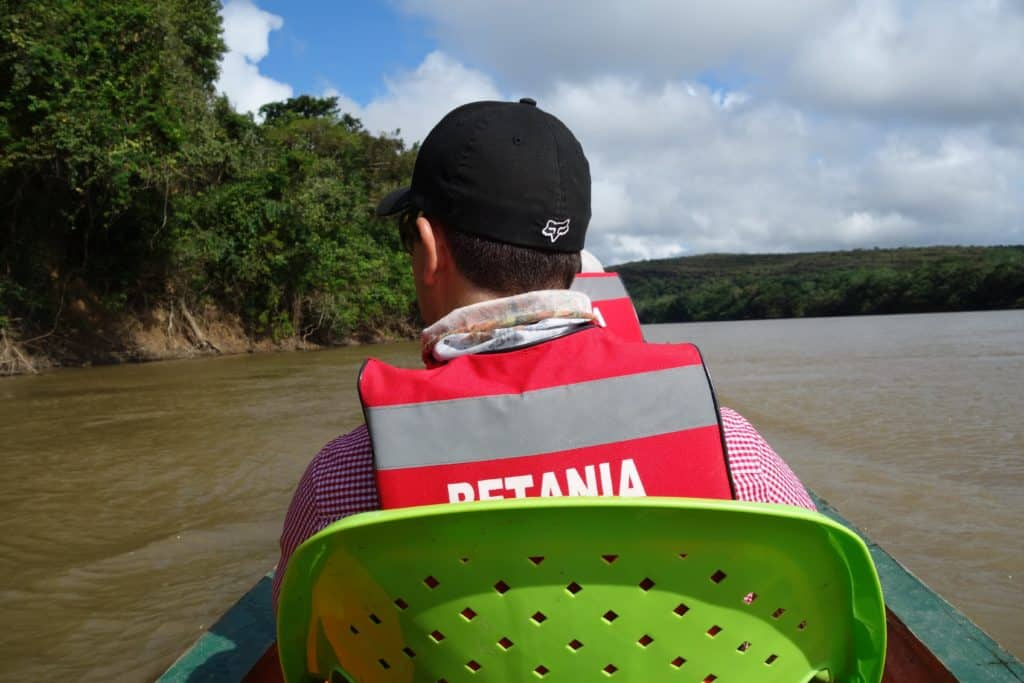 The best way of transportation on The Guayabero River