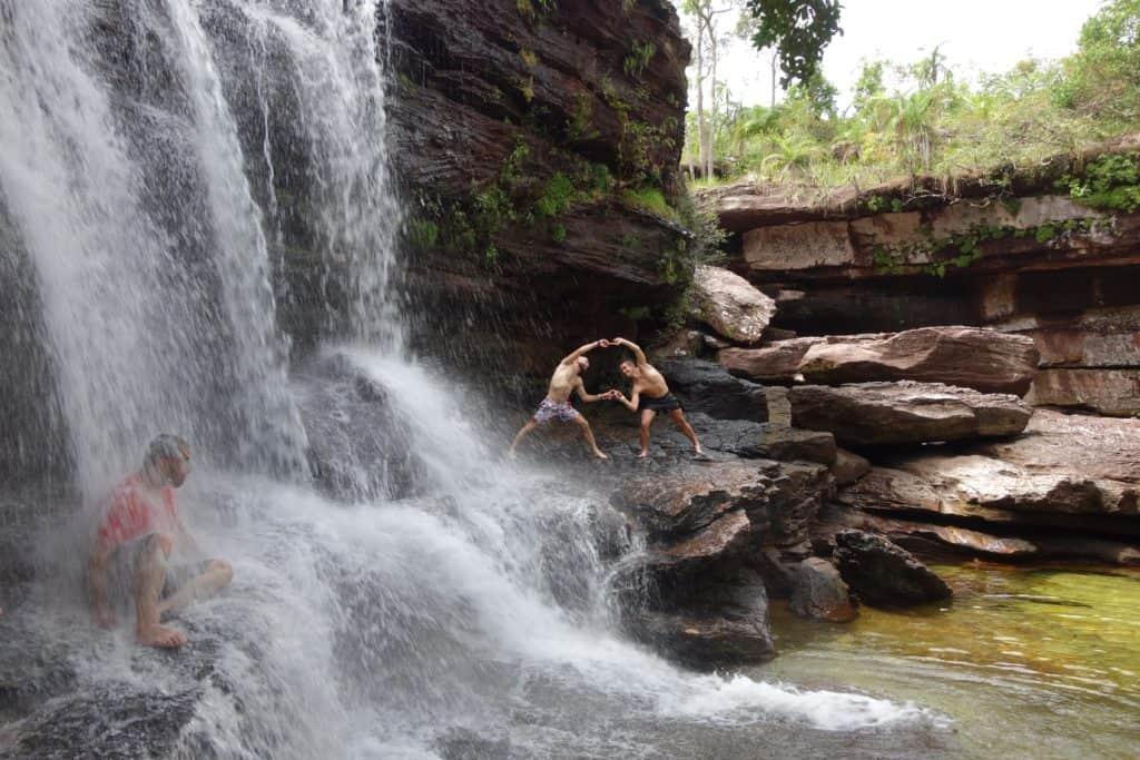 Cascada Los Coarzos in Caño Cristales