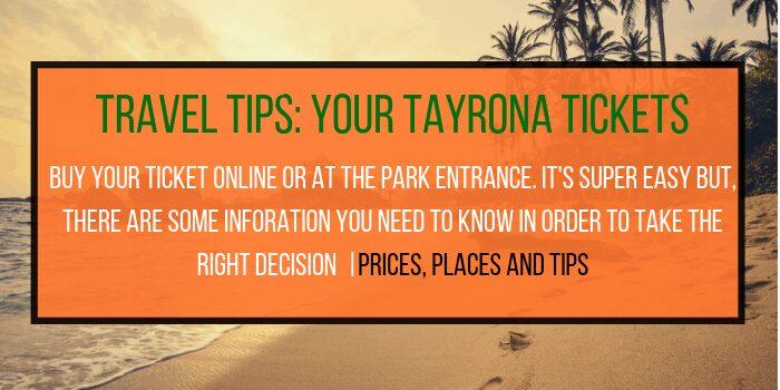 Tayrona National Park Ticket
