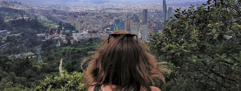 Vista desde Monserrate a Bogotá, Colombia