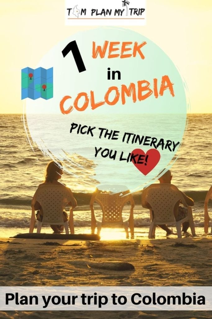One week in Colombia. Read our Colombia itinerary ideas