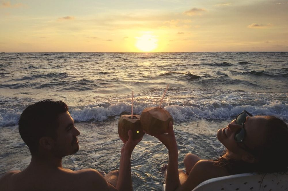 Sunset coconuts Rincon del Mar | 1 week colombia itinerary