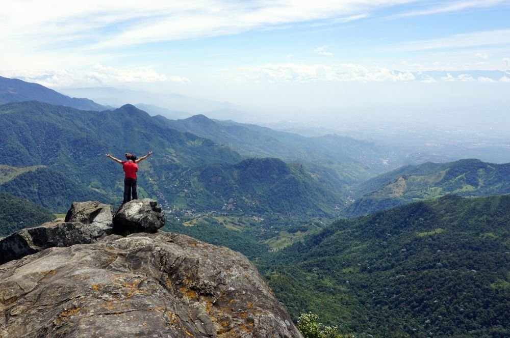 View from El Pico Loro in Pance, Cali | 3 weeks colombia itinerary