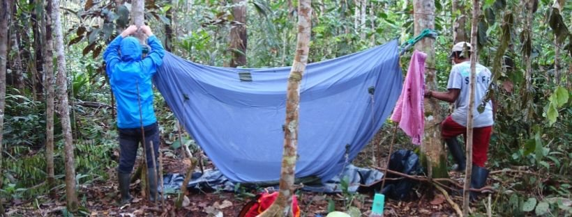 Campsite in the Amazon