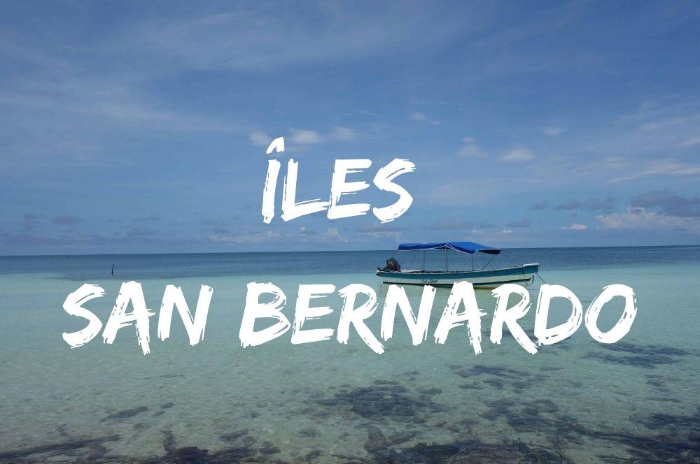 îles san bernardo en mer caraibe