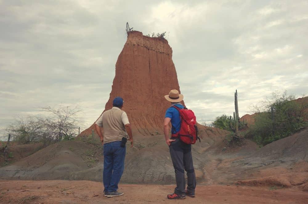 Adrien & the guide Tatacoa desert