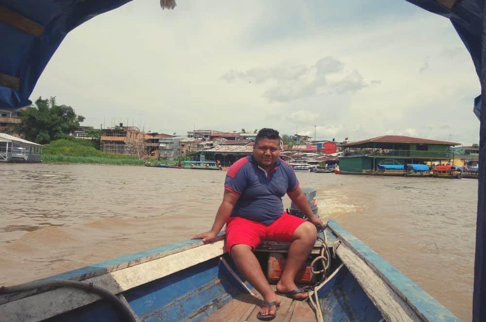 Boat ride Puerto nariño amazon