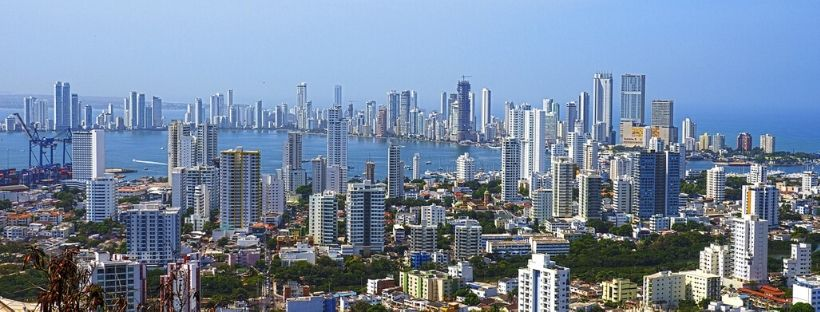 Cartagena view from the sky