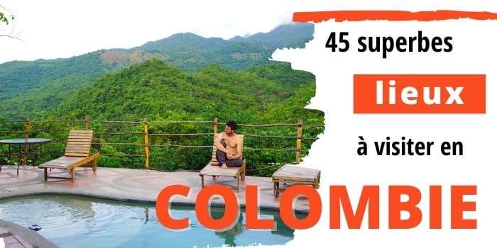Carte de la Colombie Lieux à visiter