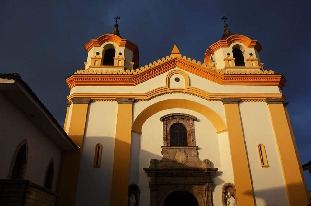 Colonial church light popayan