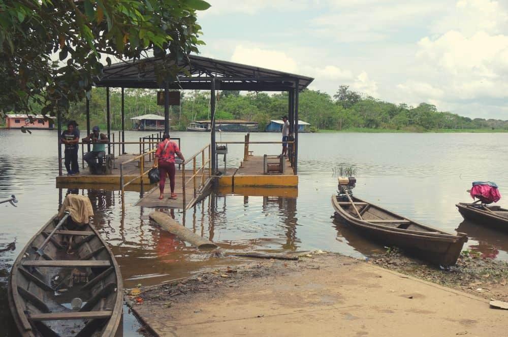 Dock in Puerto nariño amazon