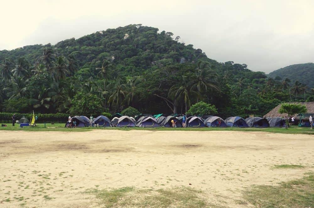Le camping de Cabo San Juan Tayrona